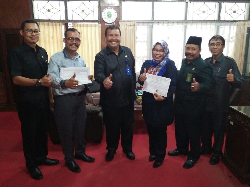 Penandatanganan Memorandum of Understanding (MoU) untuk tahun 2017 antara ketua Pengadilan Negeri Kepanjen dengan ketua LKBH PDA Kota Malang